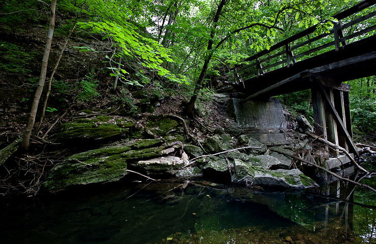 Bridge over the Flat Branch Creek