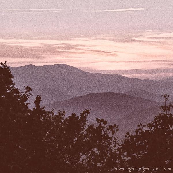 Blue Ridge Highway sunset