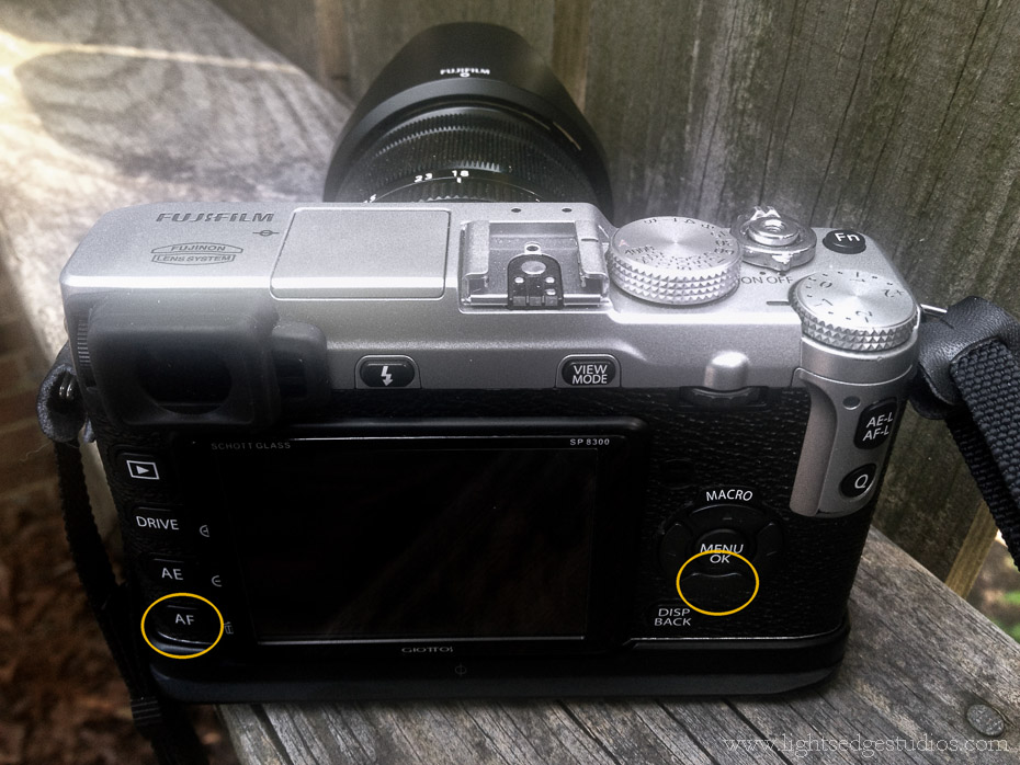 Fuji X-E1 rear button layout after firmware 1.06